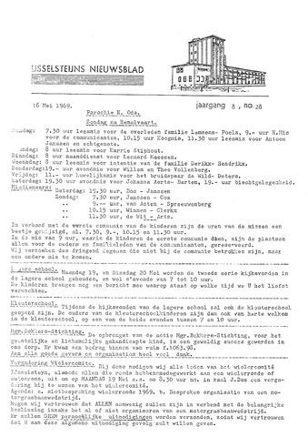 Ysselsteyns Nieuwsblad 1969-05-16