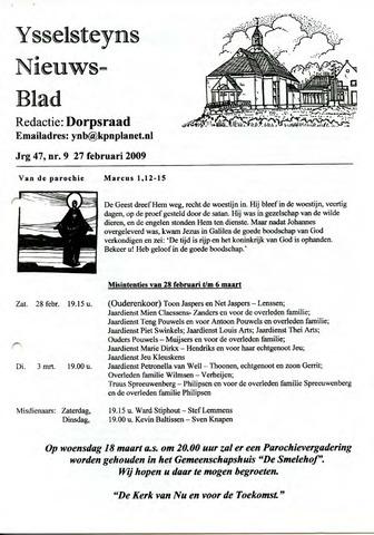 Ysselsteyns Nieuwsblad 2009-02-27