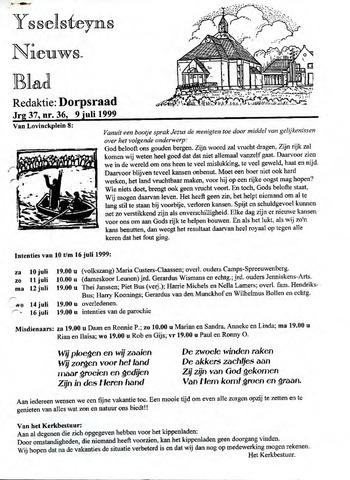 Ysselsteyns Nieuwsblad 1999-07-09