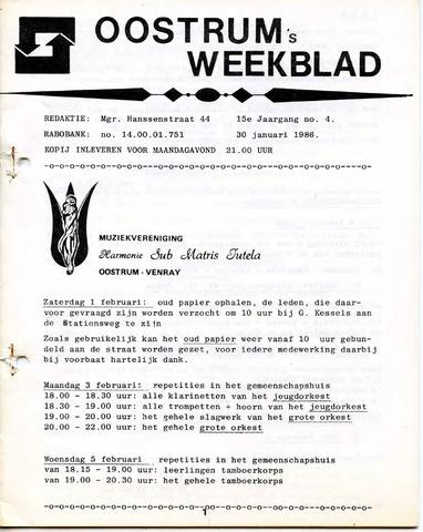 Oostrum's Weekblad 1986-01-30