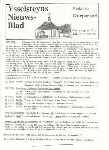 Ysselsteyns Nieuwsblad 1993-11-19