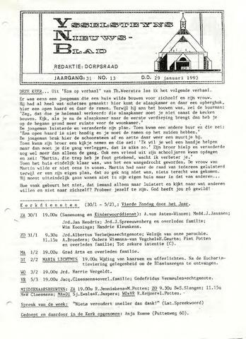 Ysselsteyns Nieuwsblad 1993-01-29
