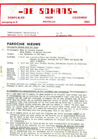 Castenrays dorpsblad De Schans 1980-08-15
