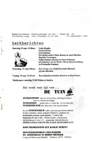 Castenrays dorpsblad De Schans 1995-09-22