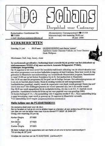 Castenrays dorpsblad De Schans 2008-06-18