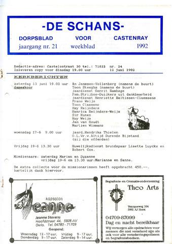 Castenrays dorpsblad De Schans 1992-06-12