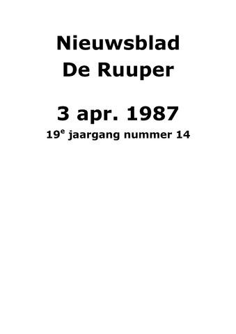 Dorpsblad Leunen-Veulen-Heide 1987-04-03