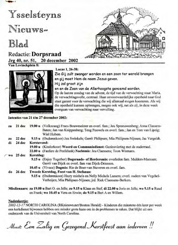 Ysselsteyns Nieuwsblad 2002-12-20