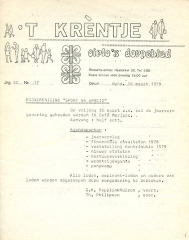 Oirlo's dorpsblad 't Krèntje 1979-03-15