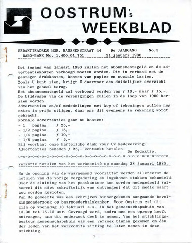 Oostrum's Weekblad 1980-01-31