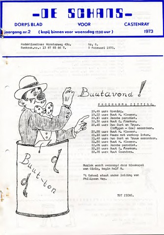 Castenrays dorpsblad De Schans 1973-02-09