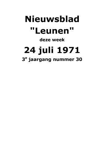 Dorpsblad Leunen-Veulen-Heide 1971-07-24