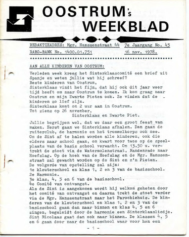 Oostrum's Weekblad 1978-11-16