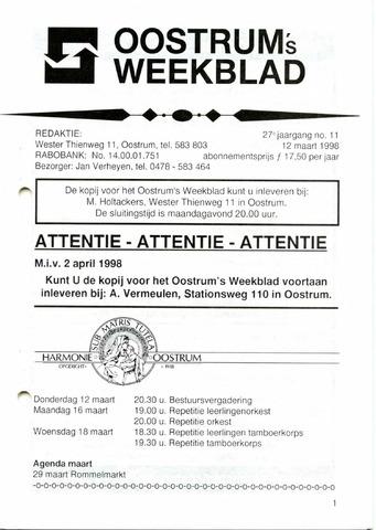 Oostrum's Weekblad 1998-03-12