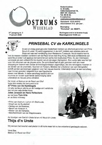 Oostrum's Weekblad 2008-01-17