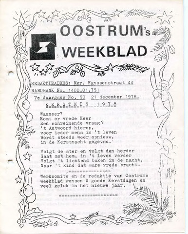 Oostrum's Weekblad 1978-12-21