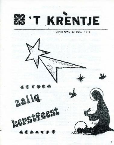 Oirlo's dorpsblad 't Krèntje 1976-12-23
