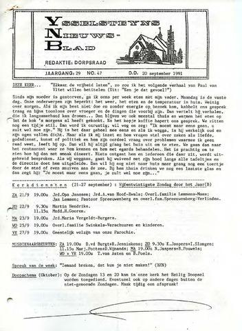 Ysselsteyns Nieuwsblad 1991-09-20
