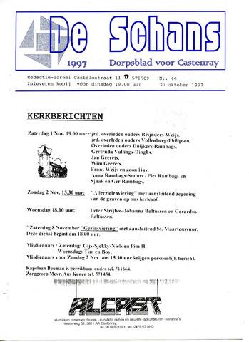 Castenrays dorpsblad De Schans 1997-10-30