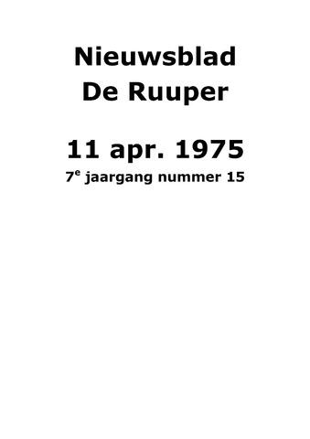 Dorpsblad Leunen-Veulen-Heide 1975-04-11