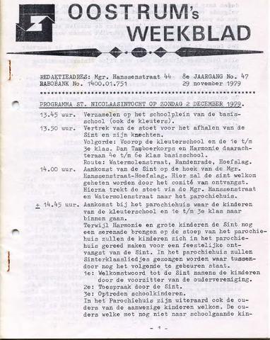 Oostrum's Weekblad 1979-11-29