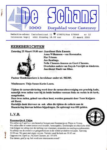 Castenrays dorpsblad De Schans 2000-03-23