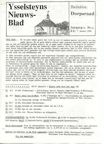 Ysselsteyns Nieuwsblad 1994