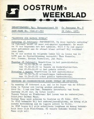 Oostrum's Weekblad 1977-02-24