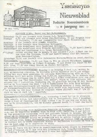 Ysselsteyns Nieuwsblad 1975-05-30