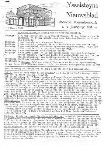 Ysselsteyns Nieuwsblad 1976-03-12