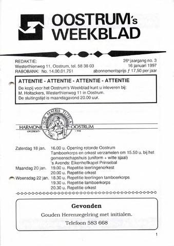 Oostrum's Weekblad 1997-01-16