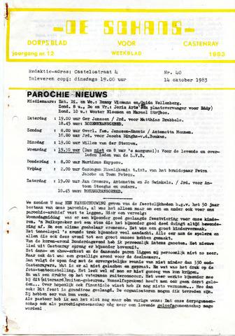 Castenrays dorpsblad De Schans 1983-10-14