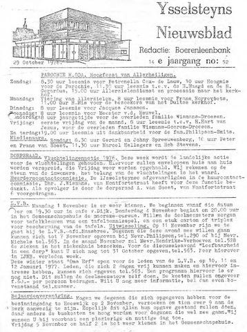 Ysselsteyns Nieuwsblad 1976-10-29