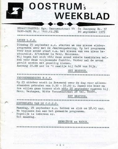 Oostrum's Weekblad 1979-09-20