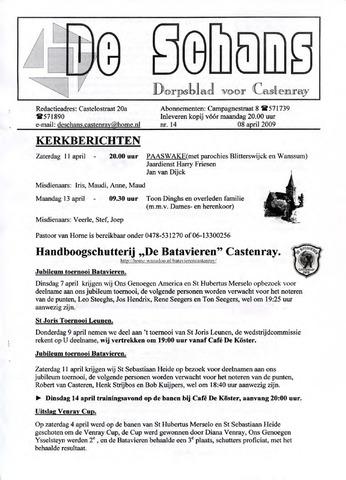 Castenrays dorpsblad De Schans 2009-04-08