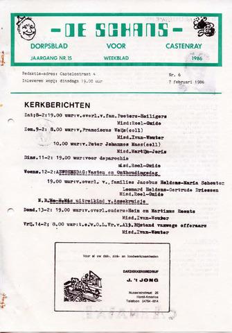 Castenrays dorpsblad De Schans 1986-02-07