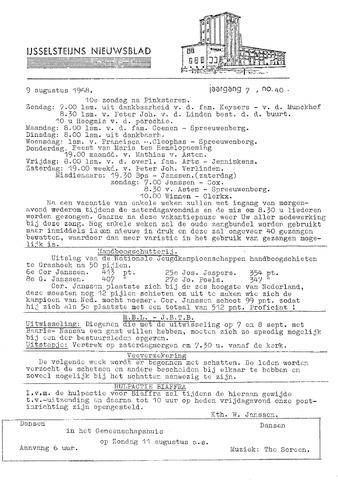 Ysselsteyns Nieuwsblad 1968-08-09