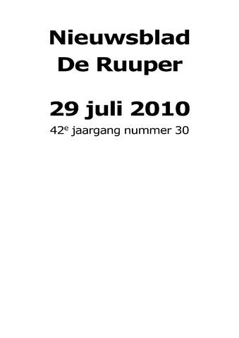 Dorpsblad Leunen-Veulen-Heide 2010-07-29