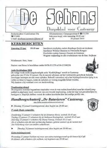 Castenrays dorpsblad De Schans 2010-01-20