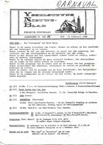 Ysselsteyns Nieuwsblad 1988-02-12