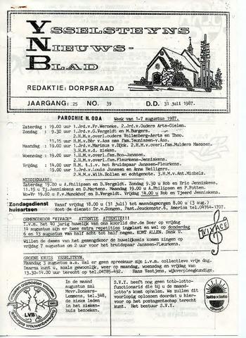 Ysselsteyns Nieuwsblad 1987-07-31