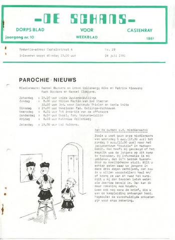 Castenrays dorpsblad De Schans 1981-07-24