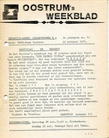Oostrum's Weekblad 1974-10-25