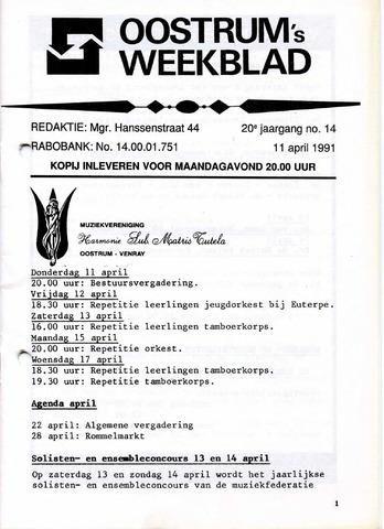 Oostrum's Weekblad 1991-04-11