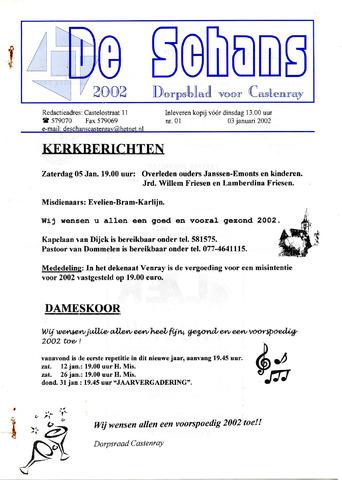 Castenrays dorpsblad De Schans 2002-01-03