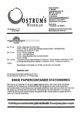 Oostrum's Weekblad 2007-05-10