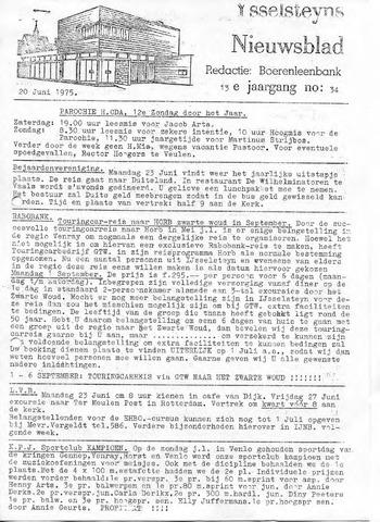 Ysselsteyns Nieuwsblad 1975-06-20