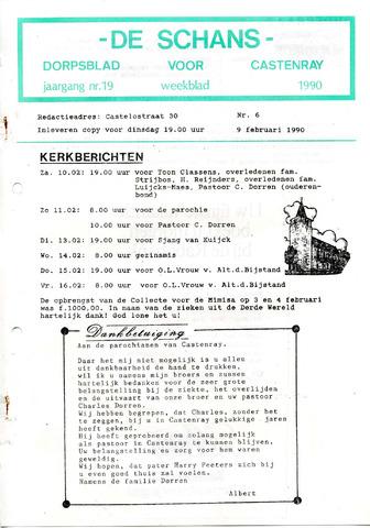 Castenrays dorpsblad De Schans 1990-02-09