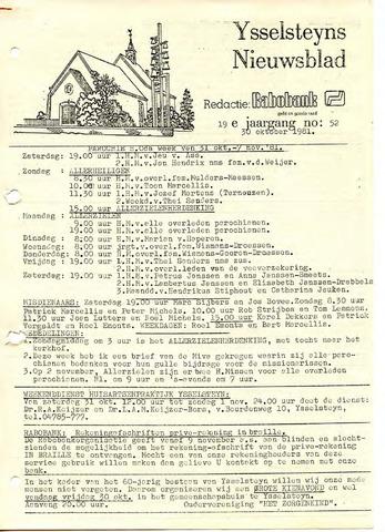 Ysselsteyns Nieuwsblad 1981-10-30