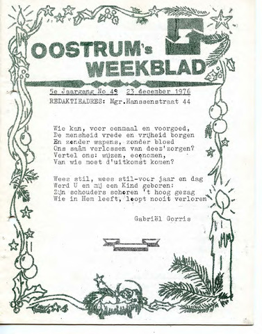 Oostrum's Weekblad 1976-12-23